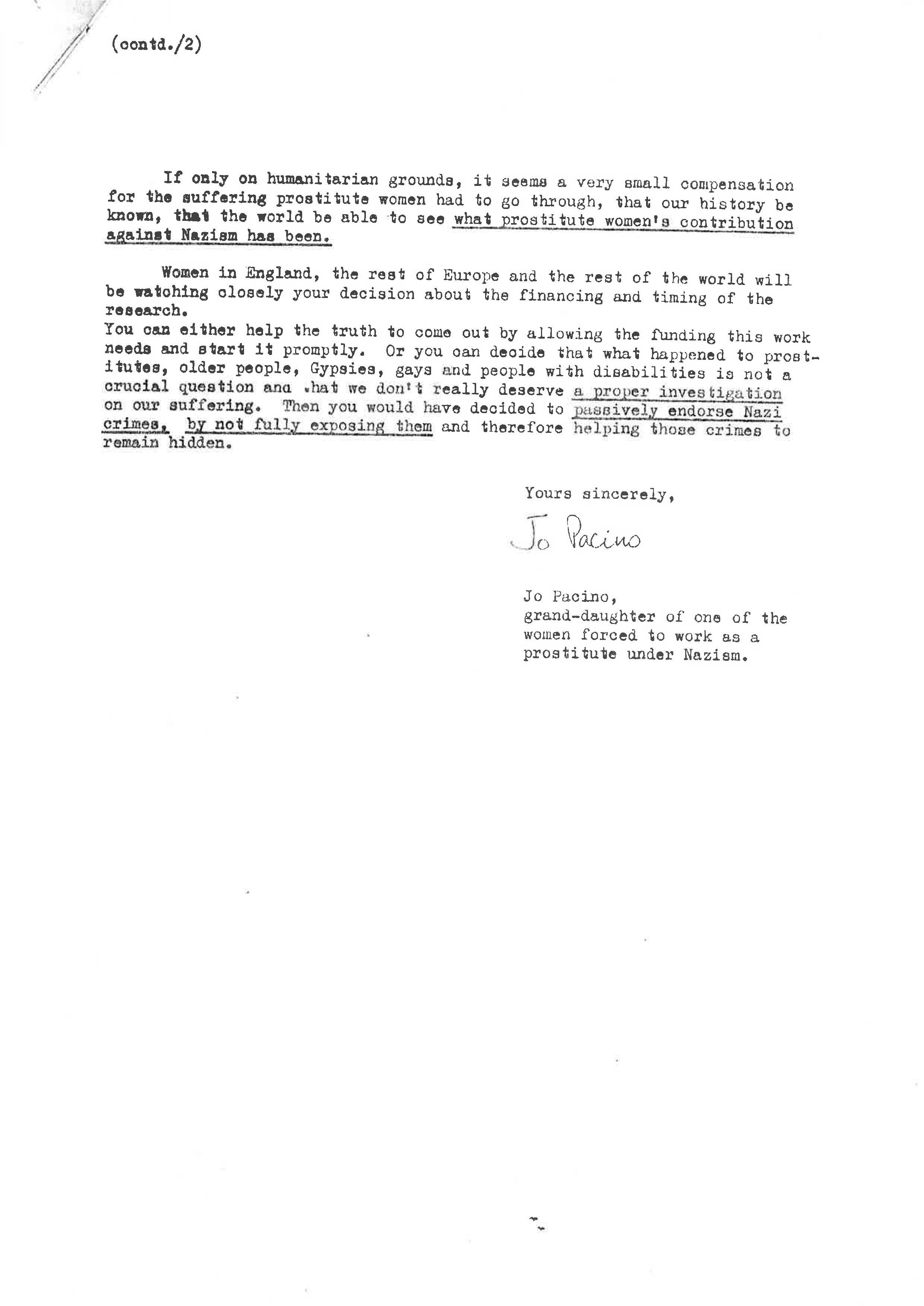 Letter from ECP to Mr Schurhardt re records on prostitute women under Nazism_Page_2